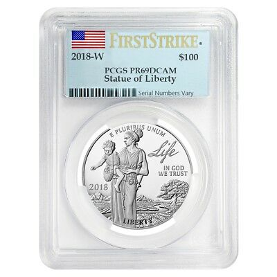 2018-W 1 oz Proof Platinum American Eagle - Life - PCGS PF 69 FS