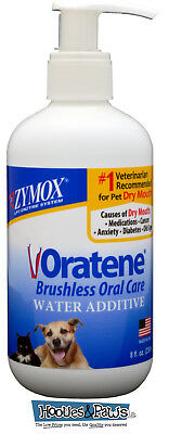 Zymox Oratene Brushless Drinking Water Pet Dog Additive Dental Care 8 oz Bottle