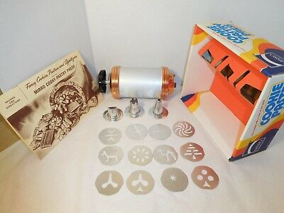 Mirro Cookie Pastry Press 12 Discs 3 Tips w/ Box & Instructions - Complete