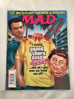Mad Magazine # 426 February 2003 Grand Theft Auto Vice City Front Cover