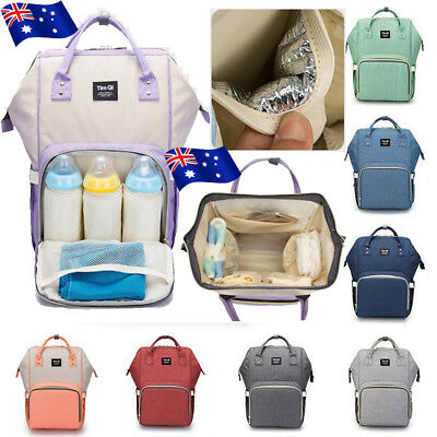 AU Diaper Backpack Large Capacity Baby Bag Travel Nappy Bags Mummy Nursing Bag