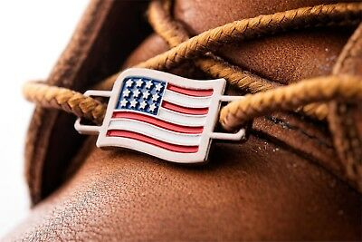 2 USA Flags Shoes Boot Lace Keeper Holder American Union Workers BrooklynMaker