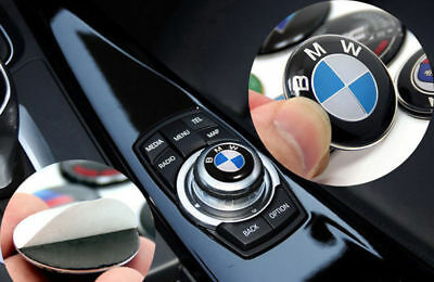 29mm Car Multimedia button Sticker emblem Decals Decoration Badge Fit For BMW