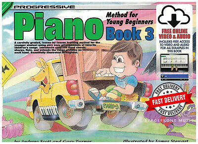 Progressive Piano Method For Young Beginners Book 3. Free Online Audio & Video