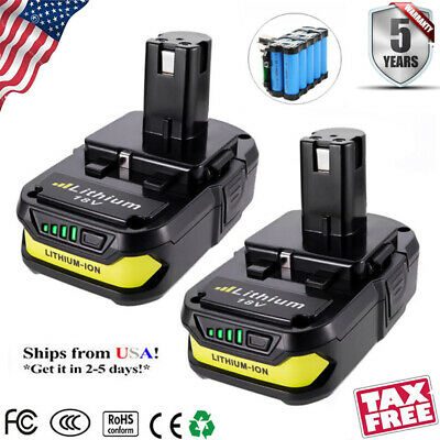2x New 18 Volt P102 for Ryobi 18V One Plus P104 P105 P108 2.0Ah Lithium Battery