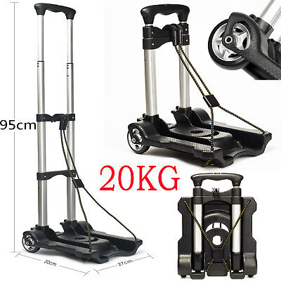 Foldable Shopping Trolley Aluminum Collapsible Luggage Cart Hand Travel Truck AU