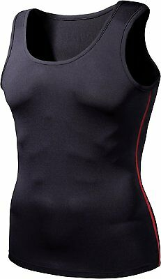 Mens Compression Tesla Sports Wear Skins Quick Dry Base Layer Sleeveless Shirts