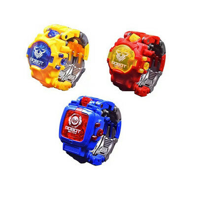 Children Watches Transformer Robot Cartoon Digital Watch Gift For Kids Boys AC