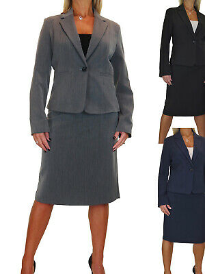 Ladies Skirt Suit Smart Fully Lined Washable Business Office10-22