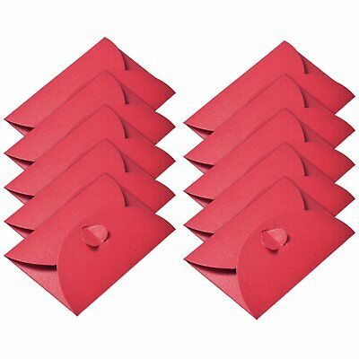 50 Pieces Kraft Paper Envelopes Mini Gift Card Envelope with Heart Clasp for Day