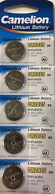 5 x PILA BOTON CAMELION CR2025 BATERIA LITIO LITHIUM 3V BATTERY DL2025 5003LC