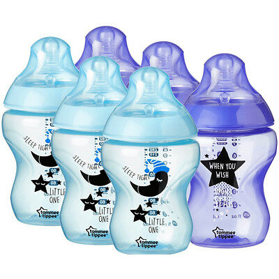 Tommee Tippee Catch Me Quick 260ml Bottle 6 Pack - Blue