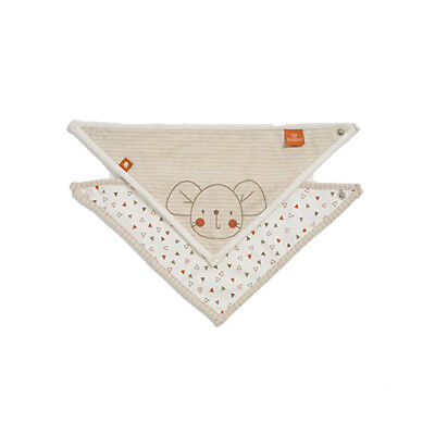 Natures Purest Woodland Friends Organic dribble Bibs - 2 Pack (0284)