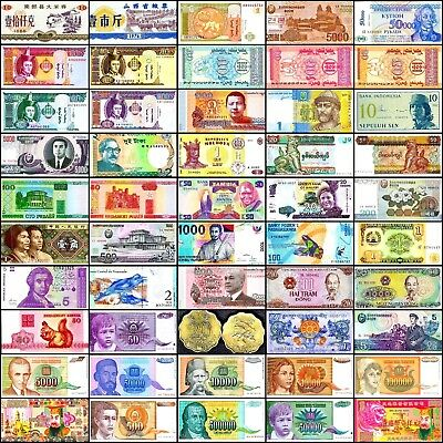 50 Different Types World Notes, Paper Money, Currency