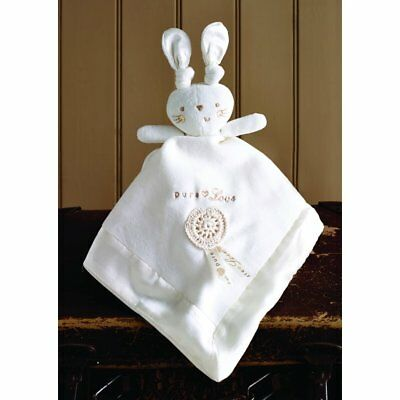 Natures Purest Pure Love Large Comforter Snuggly Buddy Bunny Rabbit (9056)