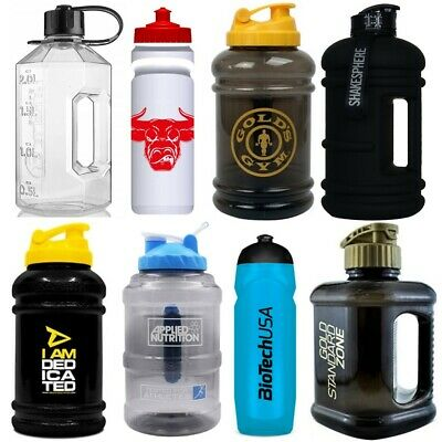 2 Litre Half Gallon 70oz Large Sports Gym Water Bottle Jug - ON, Alpha, BSN, PhD