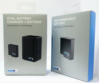 GoPro Dual Battery Charger with 2 Batteries for HERO5 & HERO6 AADBD-001 AABAT-00