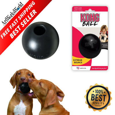 Kong Extreme Dog Toy Large Rubber Ball Tough Chew Durable Pet Puppy Toys Black