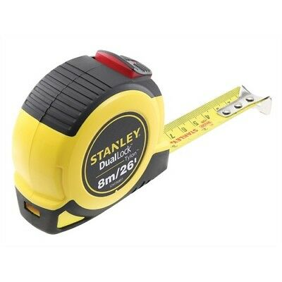 Stanley Tools STA036807 Dual Lock Tylon Pocket Tape 8m/26ft (Width 25mm)