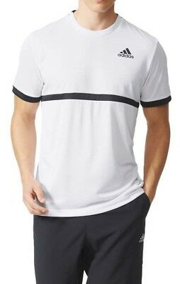 Adidas Tennis Court White Training Fitness T Shirt A10746