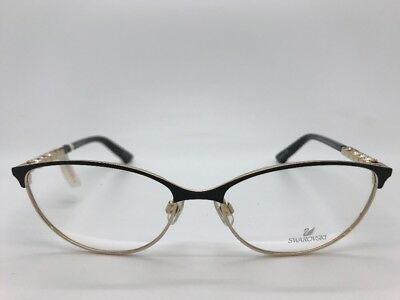 b715658bf71 Swarovski Fiona Sw 5139 01A Womans Eye Glasses Frames Eyewear 55-16-135 New
