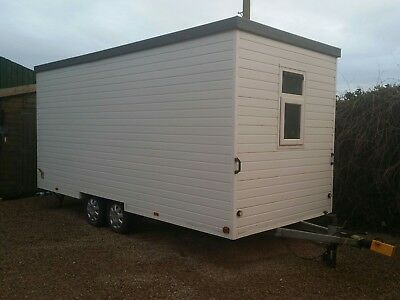 towable office or welfare unit, camping pod, site cabin. Barbers, treatment room