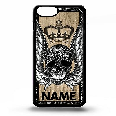 353a6ebe0598e Sugar skull wings crown king tattoo pattern personalised name phone case  cover