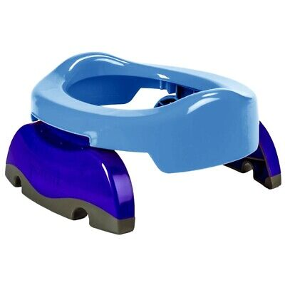 Potette Plus Toddler 2-In-1 Travel Potty / Toilet Trainer Seat - Blue / Navy