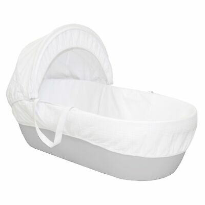 Shnuggle Baby Bedtime Moses Basket / Crib With Mattress - Grey - 0-6 Months