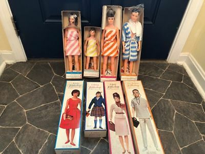 REMCO LITTLECHAP FAMILY of FOUR Doll Collection in Original Boxes UNPLAYED WITH!