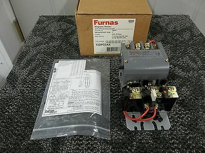 Furnas Magnetic Starter 3 Ph 7 1/2 10 Hp 110-240 Vac 600V 14Dp32Aa 14Dp32A New