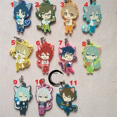 Idolish7 Trigger Re:vale Anniversary Anime Rubber Strap Charm Keychain Cat Ear