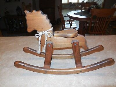 """Wooden Rocking Horse Home Decor Small Length 20"""" x 13"""""""