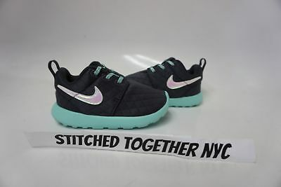 (859612-001) Toddler Girls Nike Roshe One Se Anthracite/green Glow