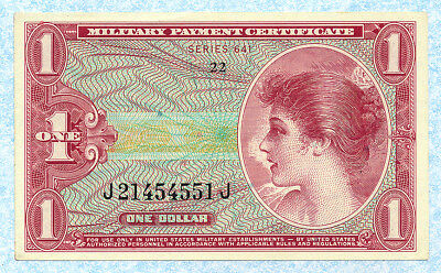 UNITED STATES MPC 1 Dollar 1965 ND M61a UNC
