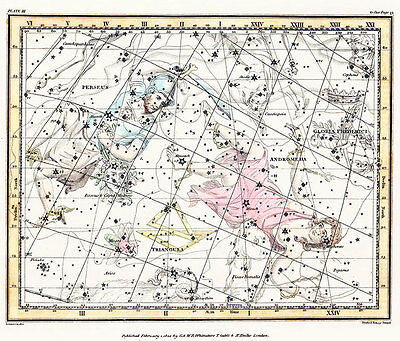 Astronomy Celestial Atlas Jamieson 1822 Plate-03 Art Paper or Canvas Print