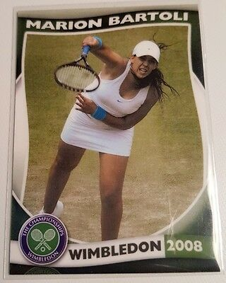 Marion BARTOLI 2006 WIMBLEDON Collector Edition card #15/25 FA Productions