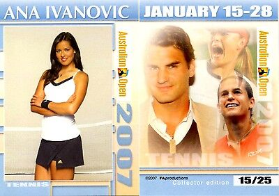 2007 Australian Open Ana IVANOVIC FA Collector Edition card #15/25