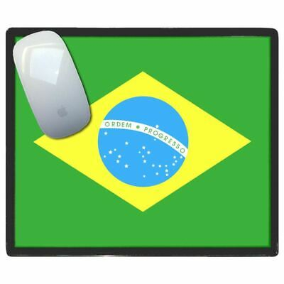 Brazil Flag - Thin Pictoral Plastic Mouse Pad Mat BadgeBeast