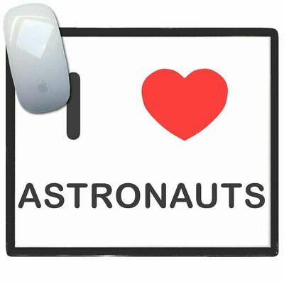 I Love Heart Astronauts - Thin Pictoral Plastic Mouse Pad Mat BadgeBeast