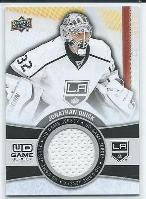 2015-16 Upper Deck Series One 1 JONATHAN QUICK #GJ-JQ Game Used Jersey Kings
