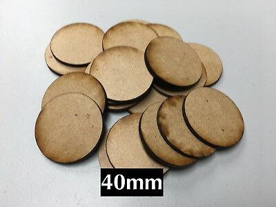 20x 40mm MDF Warhammer Miniature Bases Also Fits Our Movement Tray