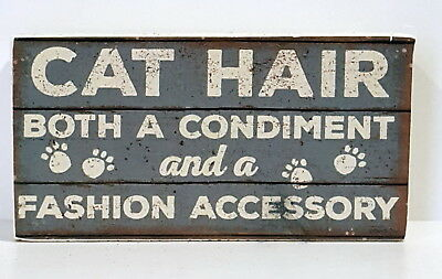 """Primitives by Kathy Rustic CAT HAIR 5.75"""" Box Sign"""