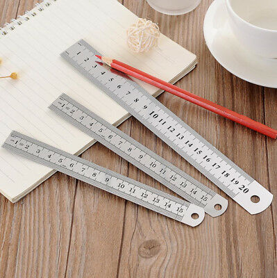 20/30cm Stainless Steel Metal Straight Ruler Precision Scale School Stationary
