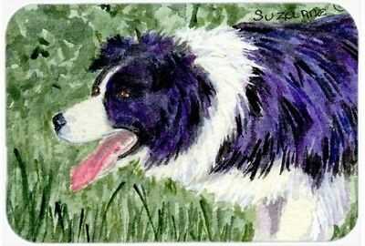 Caroline's Treasures SS8843LCB Border Collie Glass Cutting Board, Large,