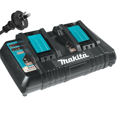 Makita 7.2V - 18V Lithium Ion 1.5-6Ah Dual Port Battery Charger  Dc18Rd