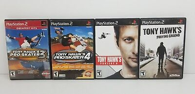 Tony Hawk 3 4 Project 8 Proving Ground PS2 PlayStation 2 Game Lot Skateboarding