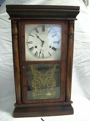 Antique Seth Thomas Mantle Chime Clock 30 Hr. Weighted Wind-Up Movement 1875-85