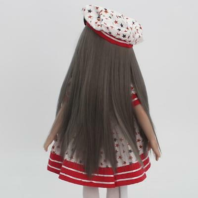 "Trendy 37cm Long Hair Replacement Wig for 18"" American Girl Dolls DIY Making"