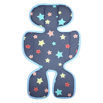 3D air mesh seat cushion pad liner for infant stroller and car seat -Navy star